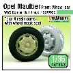 DW30042 German Opel Maultier Half-Track Sagged Front Wheel set