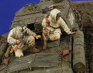 2787 Russian Tank Riders WWII Resin 2 Figures