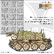 35/827-078 Giraffe Camouflage Paint Mask Set ver.1 Axis WWII Armor 1/35