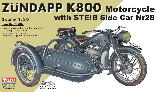 56007 German Zundapp K800 Motorcycle with STEIB Side Car Nr28