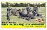 6942 2cm Flak 38 Early/Late Prod. mit Sd.Ah.51 & Flak Crew 2 in 1
