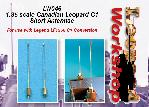 LW046 - 1:35 scale Canadian Leopard C1 Short Antennae For use with Legend LF1356 C1 (late) Conversion.